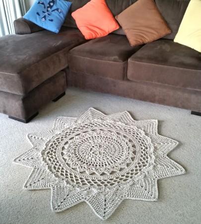 Radiance Floor Rug Crochet Pattern