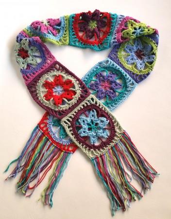Stash Busting Crochet Scarf Tutorial Spincushions