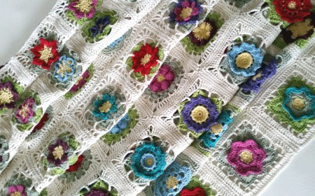 Flowers Abound blanket by Shelley Husband 2015
