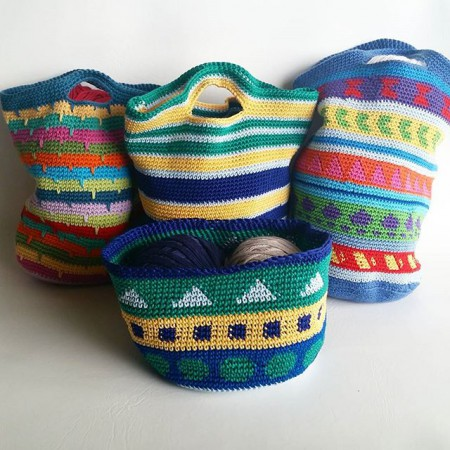 Crochet Bags Tutorial - spincushions