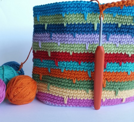 spike stitch bag by Shelley Husband