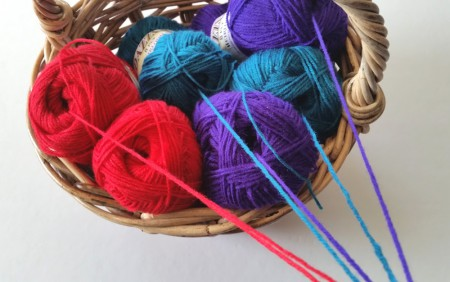 centre pulled yarn for baskets by Shelley Husband