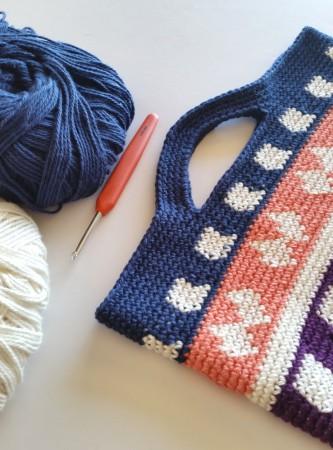 handles done 2 crochet bag tutorial by Shelley Husband