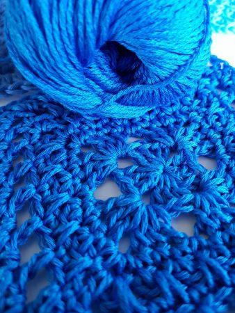 Adrafil Cheope cotton yarn test by Shelley Husband