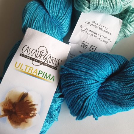 cascade ultra pima cotton for yarn test by Shelley Husband