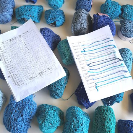 Cotton yarn test by Shelley Husband