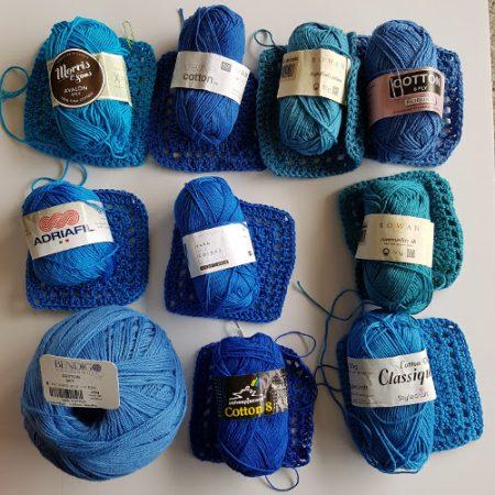 Cotton yarn test drape by Shelley Husband