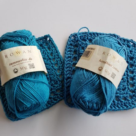 Cotton yarn test rowan by Shelley Husband