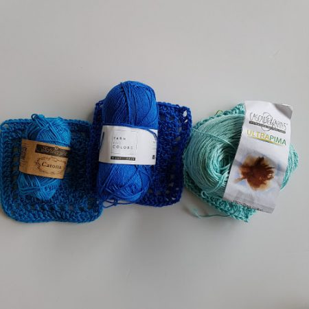 Cotton yarn test will use 2 by Shelley Husband