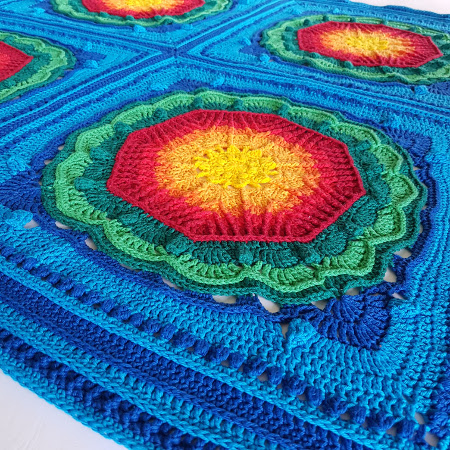 Multi Mayan Crochet Blanket by Shelley Husband3