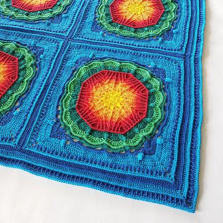 Multi Mayan Crochet Blanket by Shelley Husband4