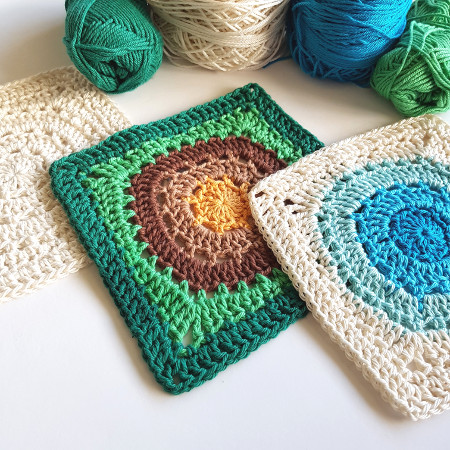 Granny Square Flair by Shelley Husband 2018 pattern x 3